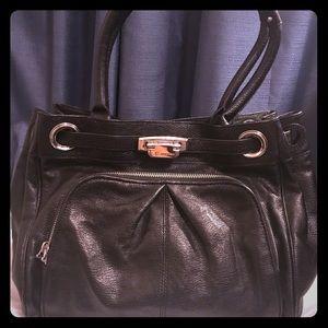 Makowsky Black Leather Purse
